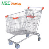 Galvanisierte Stahlsupermarkt-Einkaufswagen-Laufkatze