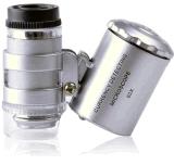 60X Detector van de Munt van Loupe van de Juwelen van Magnifier van de LEIDENE Microscoop van de Zak de UV