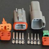 플러그와 단말기 Dt04-4p를 가진 Dt 시리즈 4pole 자동 연결관