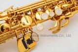 Goede Rechte OEM van de Prijs van de Fabrikant van de Lak van de Saxofoon van de Discant Gouden Goedkope