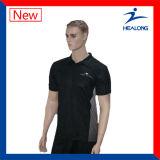 Preço de fábrica de Healong com as camisas de polo feitas sob encomenda do bordado do bom Sportswear do serviço