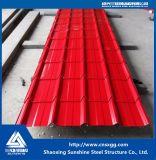 Color de hoja de acero galvanizado o una placa para tejados y sistema de pared