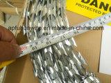 Le fil du rasoir plat recouvert de PVC, concertina Razor barbelés