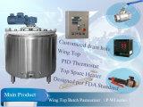 Pasteurizador de aço do grupo do leite 500L de Stainess (séries de P-WI)