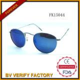 FM15044 Round Frame Metal Sunglasses mit Blue Lens