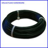 Fio de aço revestido PVC ao ar livre do ferro do jardim do fio do laço do verde