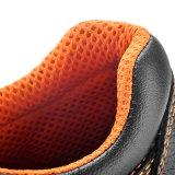 Zapatos de seguridad respirables del cuero del ante L-7006