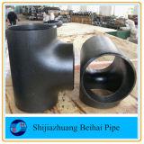 Te negra Sch40 ASME B16.9 del igual del acero de carbón de A234 Wpb