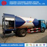Высокое качество 12000литров 6 метрических тонн сжиженного нефтяного газа Bobtail отправление погрузчика для Нигерии рынка