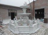 Escultura em pedra de granito / mármore Fonte de jardim de água para decoração