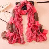 As mulheres Fashion Paisley impresso lenço de seda de algodão (YKY1143)