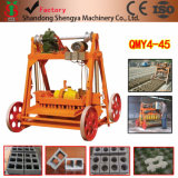 Qmy4-45半自動移動式大きいサイズの卵のLaierの空およびペーバーのブロックは手押し車の必要性を機械で造らない