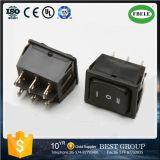 (A) -off- (A) 35A 12VDC; 20A 125VAC Dpdt 6p Double-Poles Interruptor Basculante, Interruptor de automóvel, Mini-Switch, Switch pequeno, Interruptor oscilante