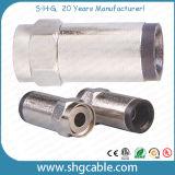 F Tipo de cable coaxial RG6 RG59 RG11 Conectores de Compresión