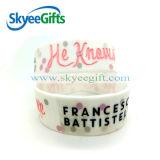 Bracelet en caoutchouc fait sur commande de silicones de bracelet