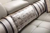 Sofá de couro comercial clássico moderno europeu (HC2080)
