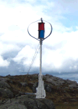건전지와 변환장치 (200W-5kw)를 가진 바람 발전기가 600W에 의하여 집으로 돌아온다