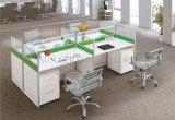 Moderner Entwurfs-Partition-Büro-Arbeitsplatz für 4 Personen (SZ-WSL325)