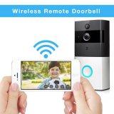 Sonnette visuelle sans fil de l'intercom PIR de mouvement de porte de WiFi bi-directionnel de téléphone