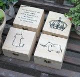 宝石類の木箱の方法宝石類のための贅沢なピンクの木のギフト用の箱
