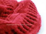 Шарф шеи способа Acrylic 100% красным связанный Warp