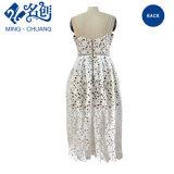 Newstyle weißes reizvolles Aushöhlen-herausform-Dame-Kleid mit unsichtbarem Reißverschluss