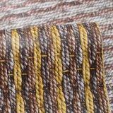 Couro malogrado Textured do saco do PVC da imitação da corda dobro da cor