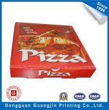 Boîte ondulée à pizza de papier pliable fait sur commande