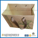 Papier Kraft Customized Brown Sac à provisions pour le vêtement d'emballage