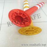 Route de couleur orange et rouge Post à ressort souple