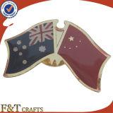 Подгоняйте Pin флага металла креста приятельства мира национальный (FTFP1625A)