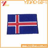 preço de fábrica delicada fronteira Merrow personalizáveis Bordados Patches Bandeira com ferro-on