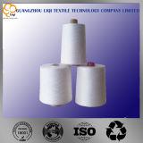 Het Gesponnen Garen van 100% Polyester voor het Naaien van het Naaiende Garen van de Polyester van het Gebruik in Ruwe Witte Kleur