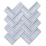 傘の床タイルのための白いカラーラの大理石のモザイク