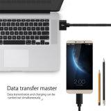 USB schreiben cm-Kabel-Nylon, Kimitech 2m C das Kabel 56kohm geschützt geflochten mit magischer Band-Brücke für neues MacBook, Google Chromebook Pixel, Tablette