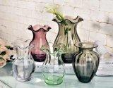 De naar maat gemaakte Vaas Van uitstekende kwaliteit van de Bloem van het Glas voor de Decoratie van het Huis