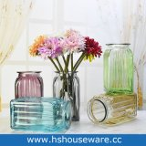 Vaso costolato di vetro del cilindro