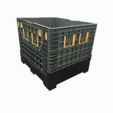 1200 Caixa de paletes de plástico grande dobrável para armazenamento da indústria
