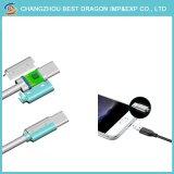cabo de dados USB trançado de Nylon 3.1 Tipo C para o Tipo C para iPhone Samsung