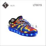 Blue Kids and Women Sapatos de sapatilha LED com sola leve