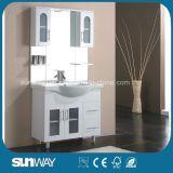 Fußboden-stehender Glanz-Farbanstrich MDF-Badezimmer-Schrank Sw-D900sw