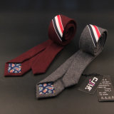 Un homme d'épaisseur de la laine à rayures cravate BZ0001
