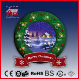 Hanging fragile Snowing Wreath con Beautiful Christmas Scene