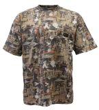 Мужчины по индивидуальной охоты короткие втулки футболка