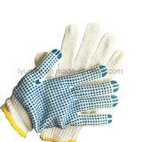Синий ПВХ пунктирной хлопка вязаные рукавицы