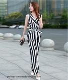 Chiffon Sleeveless Jumpsuit de Sell Women quente com Stripe Printing