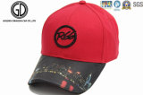 最上質の刺繍パッチのラベルの黒の野球帽のスポーツの帽子