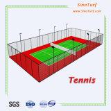 Blaues künstliches Gras, synthetischer Rasen, gefälschtes künstliches Rasen-Gras für Tennis-Gericht