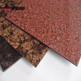 materiale composito di plastica di alluminio di rivestimento di marmo 3mm di 1220*2440mm