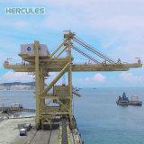 Tecnicamente o intercâmbio de contentores do porto de gruas de portal